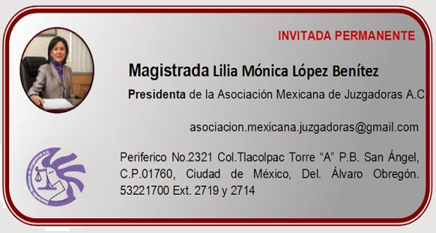 Magistrada Lilia Mónica López Benítez
