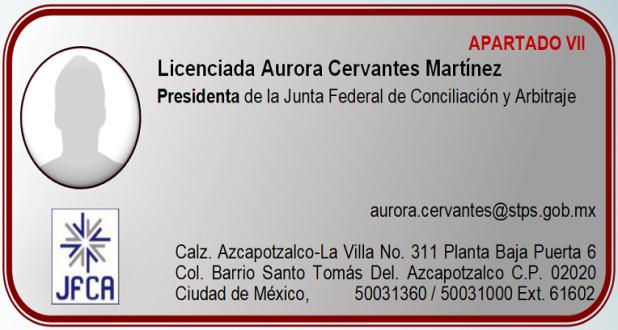 Licenciada Aurora Cervantes Martínez